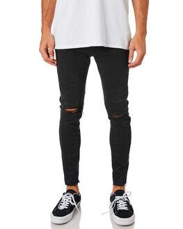 SMOKEY BLACK MENS CLOTHING A.BRAND JEANS - 807602375
