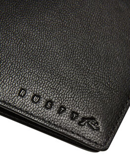 BLACK MENS ACCESSORIES RUSTY WALLETS - WAM0547BLK