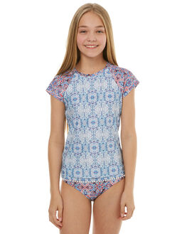 BLUE TILE KIDS GIRLS SEAFOLLY SWIMWEAR - 27010BLTL