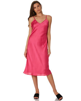 DEEP PINK WOMENS CLOTHING LULU AND ROSE DRESSES - LU23736PINK