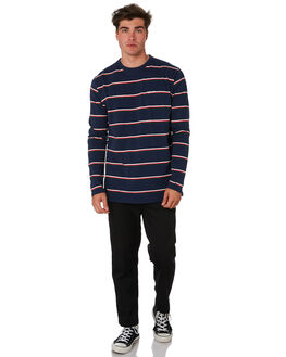 NAVY STRIPE MENS CLOTHING RPM TEES - 9PMT08CNVYST