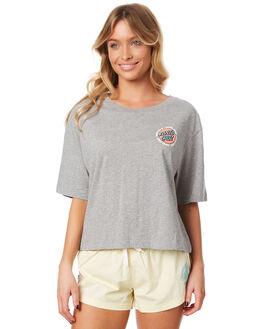 GREY HEATHER WOMENS CLOTHING SANTA CRUZ TEES - SC-WTC7356GREYH