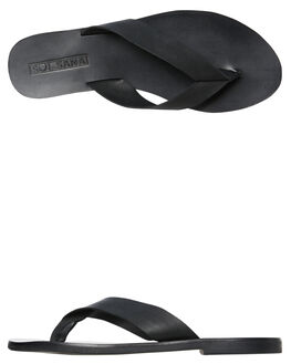 BLACK WOMENS FOOTWEAR SOL SANA THONGS - SS192S422BLK