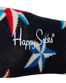 MULTI WOMENS CLOTHING HAPPY SOCKS SOCKS + UNDERWEAR - XNAU09-6000MTL