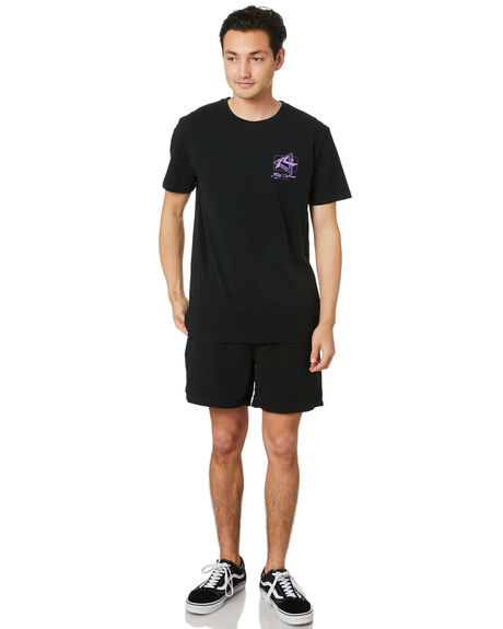 BLACK MENS CLOTHING RUSTY TEES - TTM2493BLK