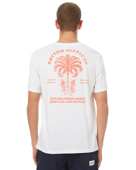 WHITE MENS CLOTHING RHYTHM TEES - OCT17M-PT07-WHT