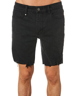 FADED BLACK MENS CLOTHING THRILLS SHORTS - TDP-319FBFBLK