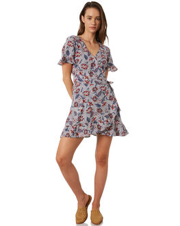 AWAY TROPICAL  WHITE WOMENS CLOTHING THE HIDDEN WAY DRESSES - H8202455ATRPL