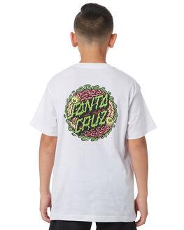 WHITE KIDS BOYS SANTA CRUZ TEES - SC-YTC8095WHT