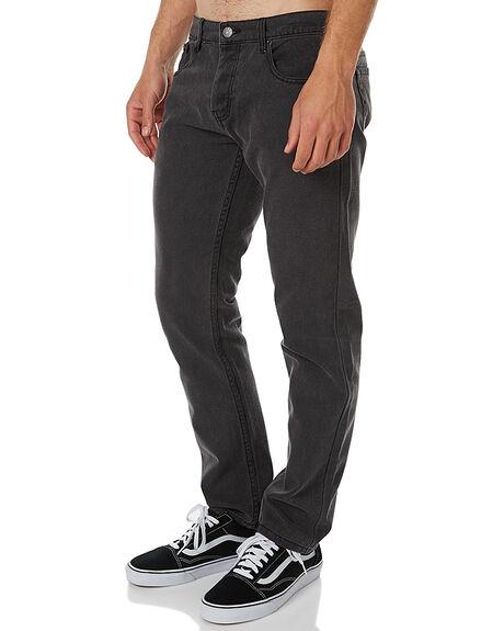 FADED BLACK MENS CLOTHING AFENDS JEANS - 12-02-030FBLK