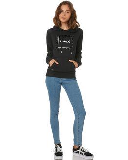 BLACK WOMENS CLOTHING HURLEY JUMPERS - AGFL1764010