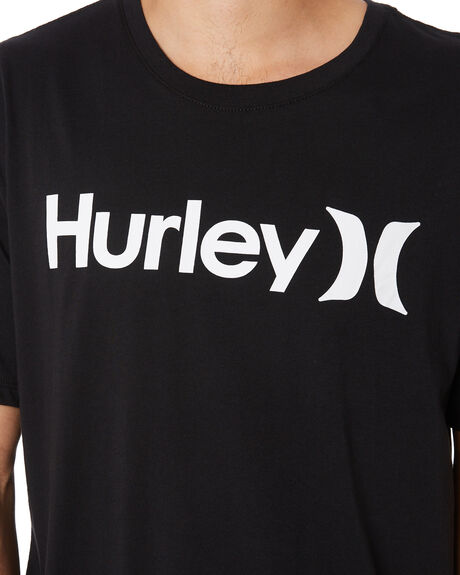 BLACK WHITE MENS CLOTHING HURLEY TEES - AH7935011