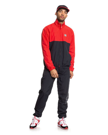 RACING RED MENS CLOTHING DC SHOES JACKETS - EDYJK03208-RQR0