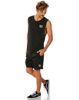ACIDBLACK MENS CLOTHING SANTA CRUZ SINGLETS - SC-MTC8958ACBLK