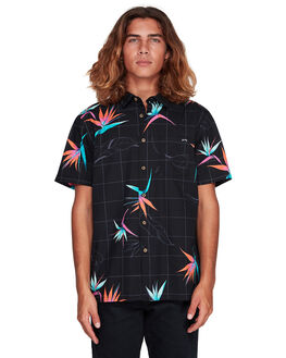 BLACK/ORANGE MENS CLOTHING BILLABONG SHIRTS - BB-9507202-BON