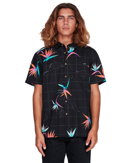 BLACK/ORANGE MENS CLOTHING BILLABONG SHIRTS - BB-9507202-BON
