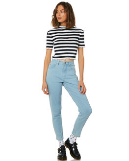 STONE BLUE WOMENS CLOTHING AFENDS JEANS - 53-02-011STB