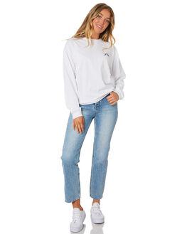 WHITE WOMENS CLOTHING RUSTY TEES - TTL1002WHT