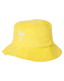 YELLOW MENS ACCESSORIES STUSSY HEADWEAR - ST793004YELL