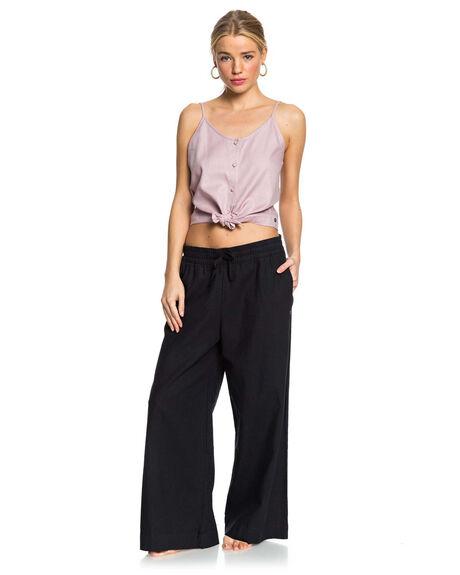 TRUE BLACK WOMENS CLOTHING ROXY PANTS - ERJNP03319-KVJ0