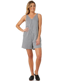 OFF WHITE STRIPE WOMENS CLOTHING NEUW PLAYSUITS + OVERALLS - 38060OFWHI