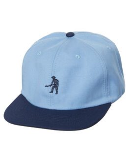 BLUE MENS ACCESSORIES PASS PORT HEADWEAR - WORKTONALCAPBLU