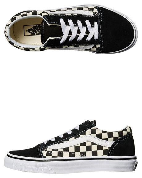 vans black and white kids