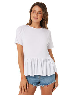WHITE OUTLET WOMENS SWELL TEES - S8184169WHITE