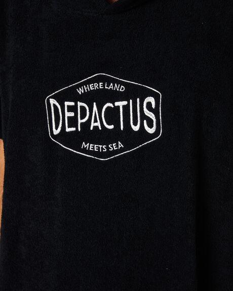 BLACK MENS ACCESSORIES DEPACTUS TOWELS - D52021803BLACK
