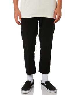 OVERDYED BLACK MENS CLOTHING THRILLS PANTS - TDP-422OBOBLK