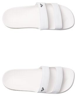 WHITE WOMENS FOOTWEAR ROXY SLIDES - ARJL100736WHT