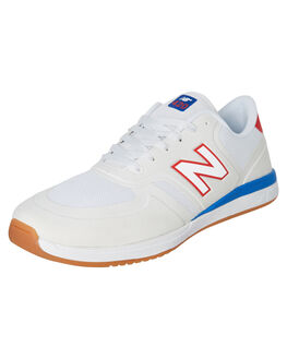 WHITE RED MENS FOOTWEAR NEW BALANCE SNEAKERS - NM420SSRWRED