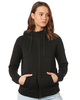 BLACK HEATHER WOMENS CLOTHING BILLABONG JUMPERS - 6595734BLH