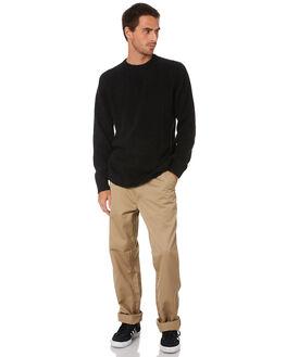 LEATHER MENS CLOTHING CARHARTT PANTS - I020075-8YLEA