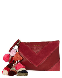 BERRY LEATHER SUEDE WOMENS ACCESSORIES THE WOLF GANG PURSES + WALLETS - TWGW19A02BRY