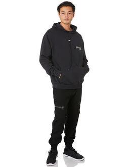 BLACK MENS CLOTHING ZANEROBE JUMPERS - 406-FLDIBLK