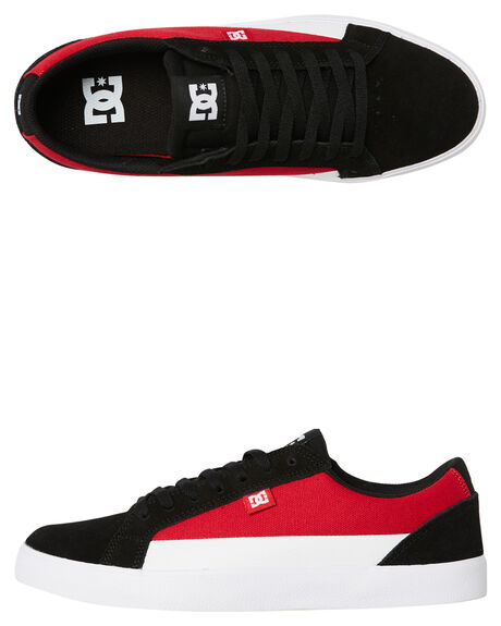 BLACK RED MENS FOOTWEAR DC SHOES SNEAKERS - ADYS300489XKRW