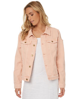 FADED PINK WOMENS CLOTHING THRILLS JACKETS - WTDP-205PFPNK