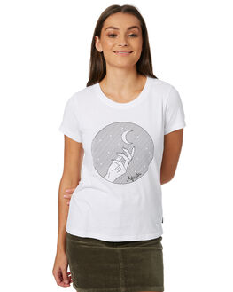 WHITE WOMENS CLOTHING AFENDS TEES - W182004WHT