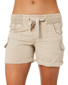 BEIGE OUTLET WOMENS RIP CURL SHORTS - GWAAY10001