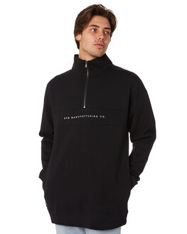 BLACK MENS CLOTHING RPM JUMPERS - 9AMT12ABLK