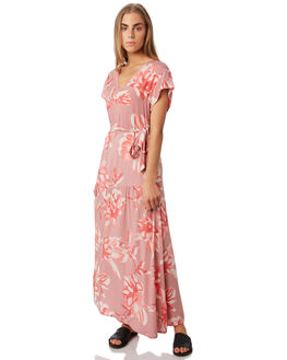 PINK FLORAL WOMENS CLOTHING ELWOOD DRESSES - W93724EO9