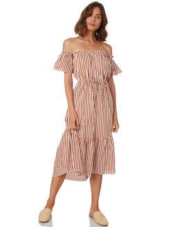GOLD STRIPE WOMENS CLOTHING RUE STIIC DRESSES - WS18-22-GP-CBGSTR