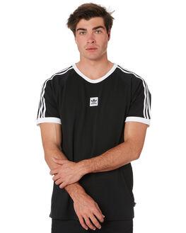 BLACK WHITE MENS CLOTHING ADIDAS TEES - EC7375BLKWH