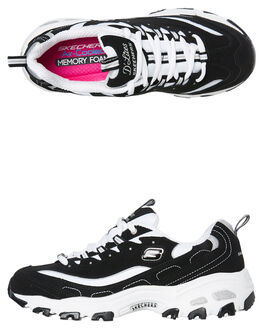 BLACK WHITE WOMENS FOOTWEAR SKECHERS SNEAKERS - 11930BKW