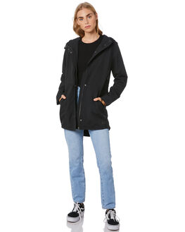 BLACK WOMENS CLOTHING VOLCOM JACKETS - B1511976BLK