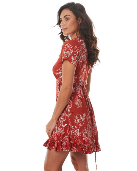RUST FLORAL OUTLET WOMENS RUE STIIC DRESSES - SRC5RFLR