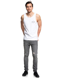 WHITE MENS CLOTHING QUIKSILVER SINGLETS - EQYZT04979WBB0
