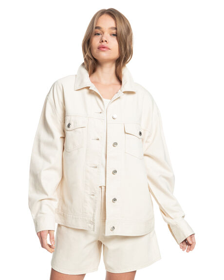 NATURAL WOMENS CLOTHING QUIKSILVER JACKETS - EQWJK03022-WZA0
