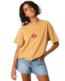 HONEY GOLD WOMENS CLOTHING BILLABONG TEES - 6595004HOG